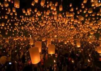 internet as seen through candles